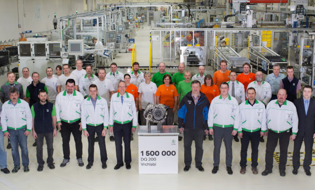 Шкода выпустила 1 500 000 коробок передач DSGDQ 200