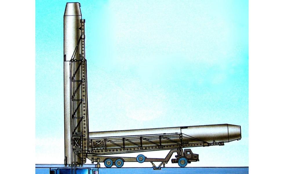 Схема установки межконтинентальной ракеты Р-36 в шахтный колодец комплекса 8П867