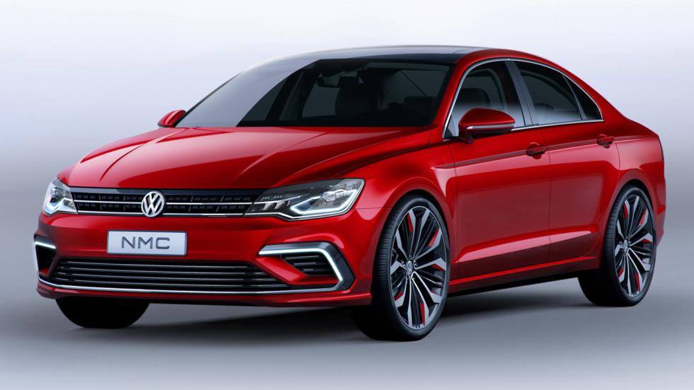 """На фото: Volkswagen New Midsize Coupé Concept. Вполне возможно, что это концепт, показанный в Пекине в 2014 году, станет прообразом нового """"бюджетника"""""""