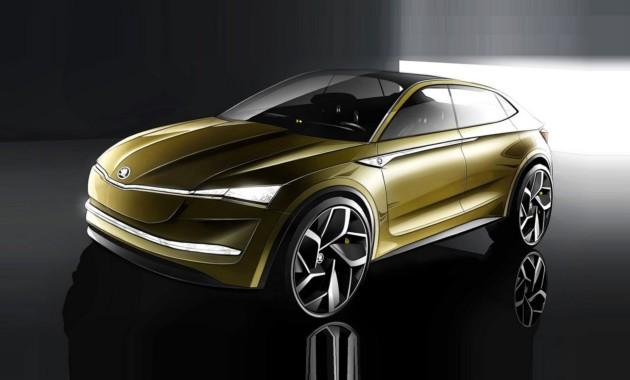 Концептуальный автомобиль Vision Eпокажет электрическое будущее марки Шкода