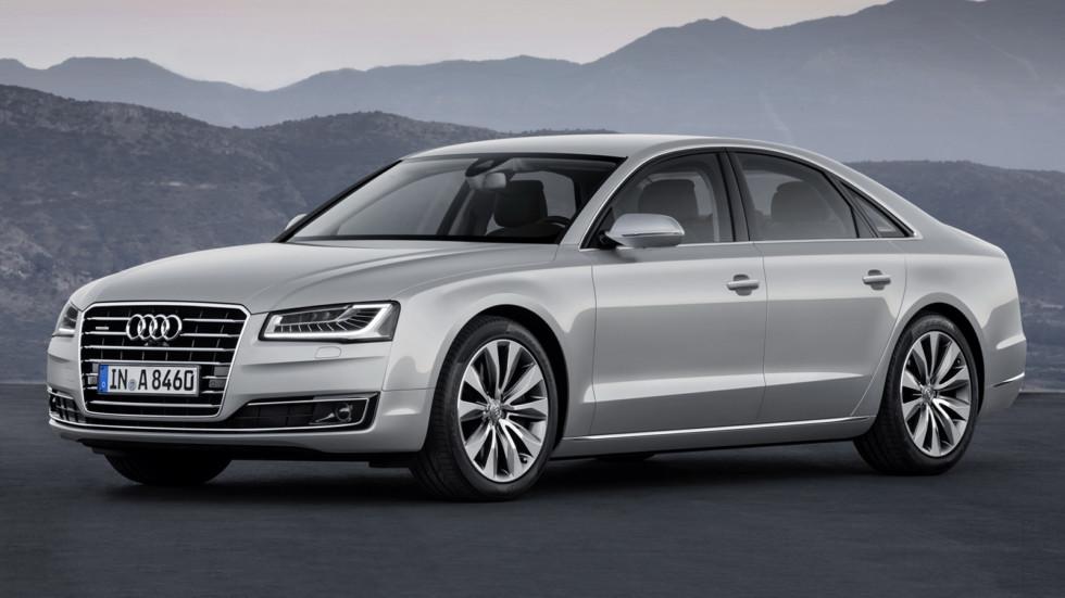 На фото: Audi A8 текущего поколения. Цена на модель в России начинается от 5 545 000 рублей
