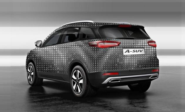 FAW вскором времени презентует новый кроссовер синдексом A-SUV