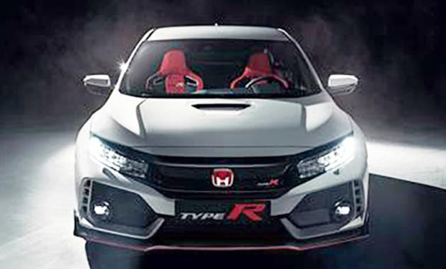 Всети появились первые кадры хэтчбека Хонда Civic Type R