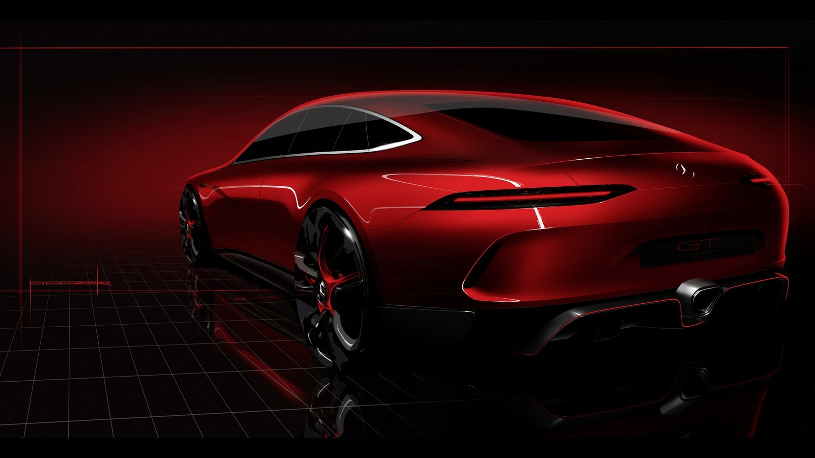 Mercedes AMGGT Concept представят наЖеневской выставке