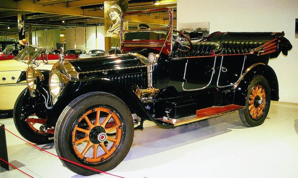 Шикарный открытый Packard Twin Six с двигателем V12. 1916 год (фото автора)