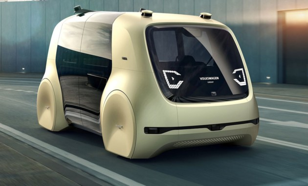 VW показал свой 1-ый на100% беспилотный автомобиль