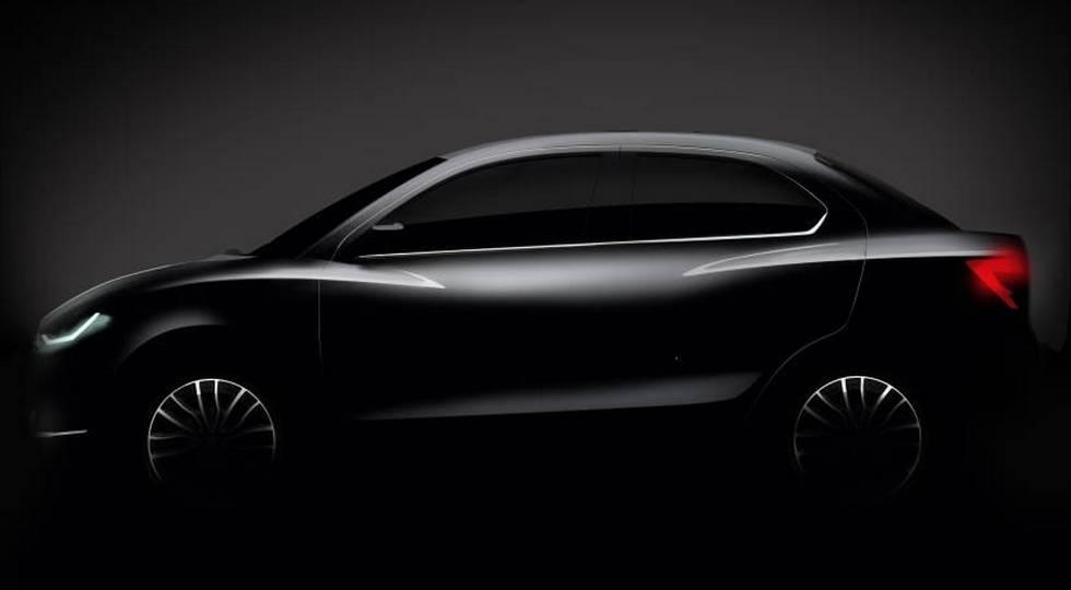 Первое изображение нового бюджетного седана Suzuki Swift Dzire
