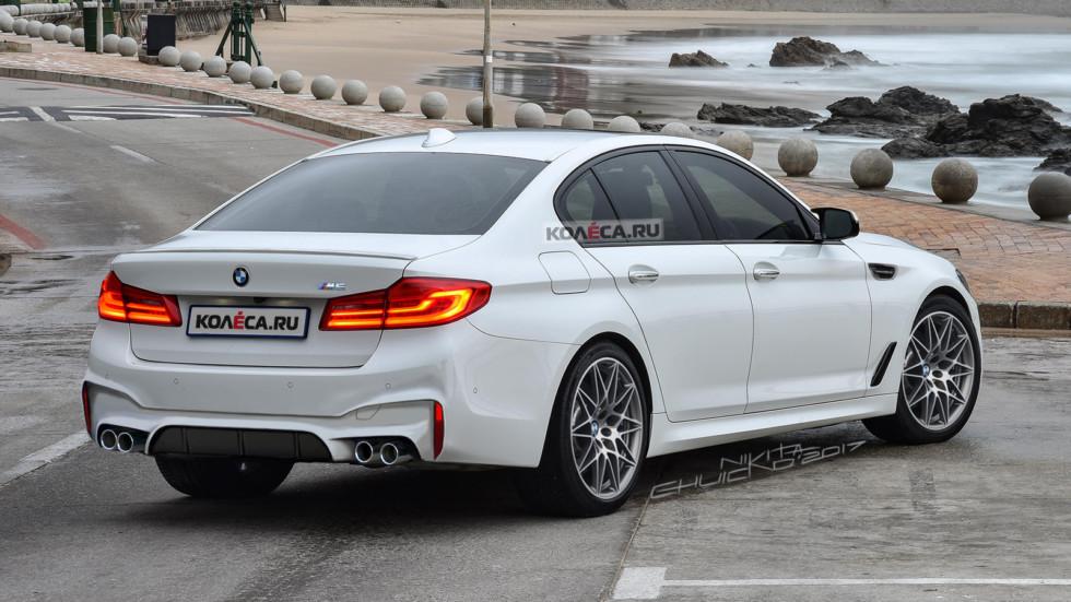 BMW M5 rear