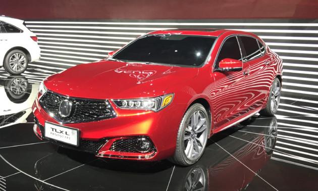 На автомобильном салоне вШанхае дебютировал удлиненный седан Акура TLX-L