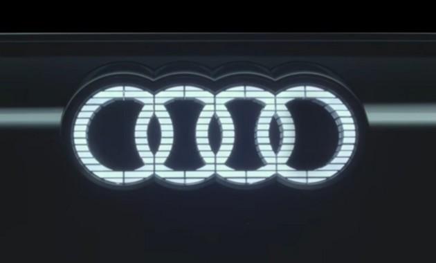 Ауди привезет вШанхай электрокар сосветящимся логотипом