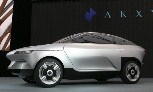 Японцы создали концепт-кар электрокара AKXY с«крыльями чайки»