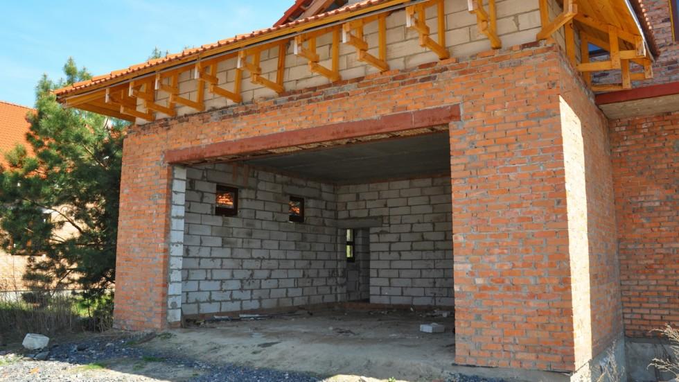 Building new garage.