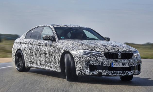 Новый седан BMW M5 получит мощный мотор иинтеллектуальную систему полного привода class=