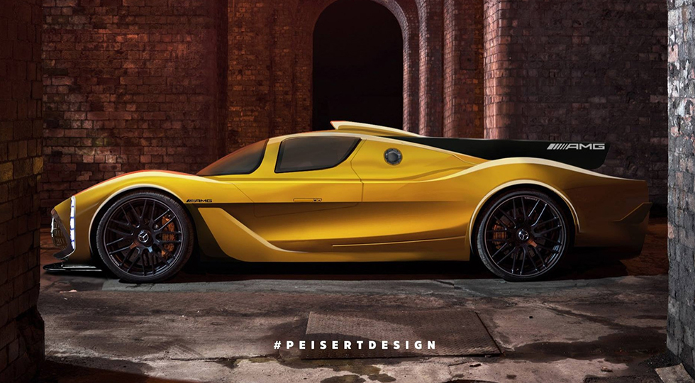 Рендер Mercedes-AMG Project One от Peiser Design