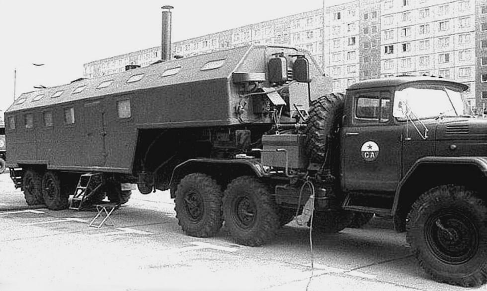 Мобильный хлебозавод АХБ-2,5 на полуприцепе БАЗ-99511 в рабочем состоянии