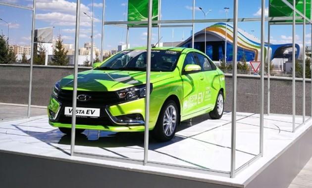 Предприятие «Азия Авто» презентовало электрический седан Лада Vesta