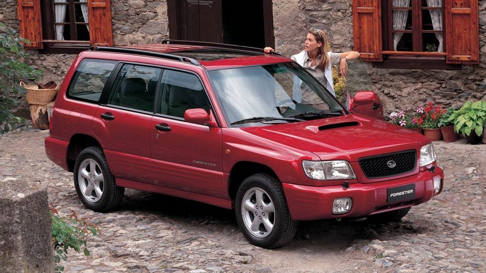 На фото: Subaru Forester S-Turbo (SF) '2000–02