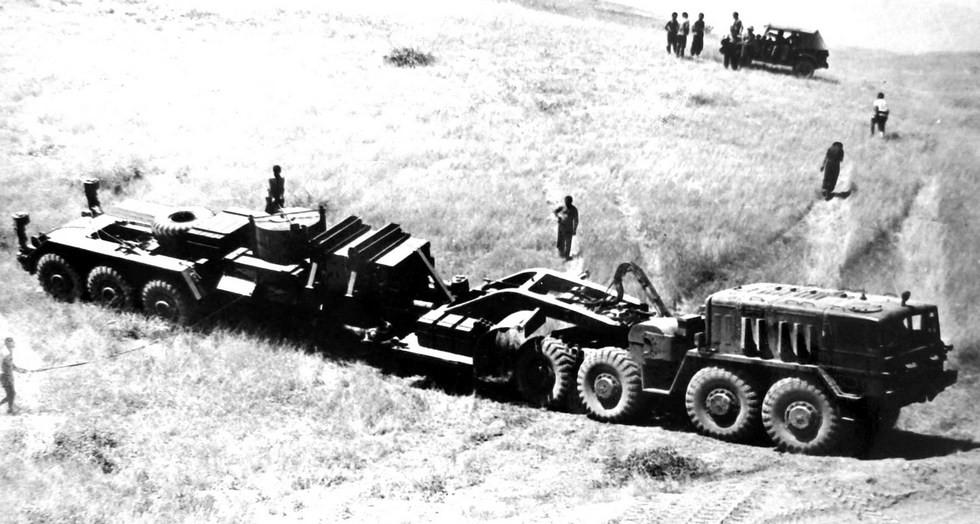 Испытания активного автопоезда СО-7 с электромеханическим приводом