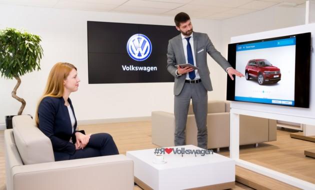 Компания VW открыла в РФ цифровые шоу-румы