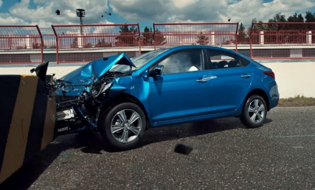 21ИюлРоссийский Hyundai Solaris прошёл краш-тест с человеком за рулем