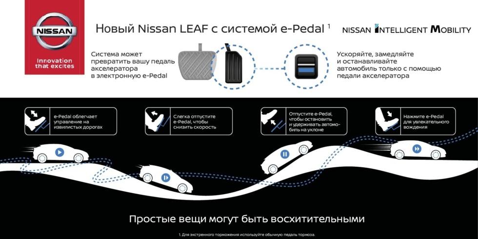 Новый #Nissan #LEAF с системой e-Pedal