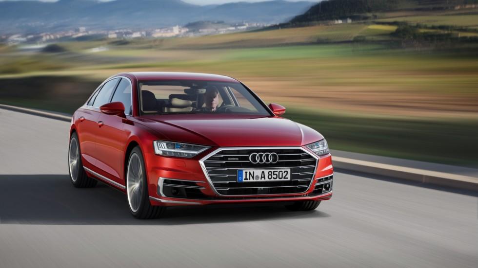 На фото: Audi A8 3.0 TDI quattro '2017