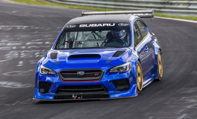 Субару WRX STI стал самым быстрым седаном Нюрбургринга