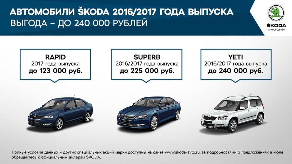 Выгодные предложения для клиентов SKODA в июле (1)