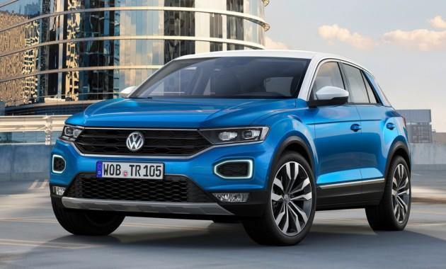 VW официально презентовал новый кроссовер T-Roc