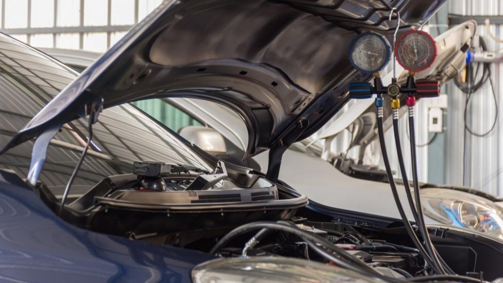 Car refilling air condition