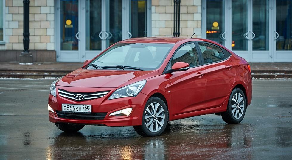 На фото: Hyundai Solaris предыдущего поколения