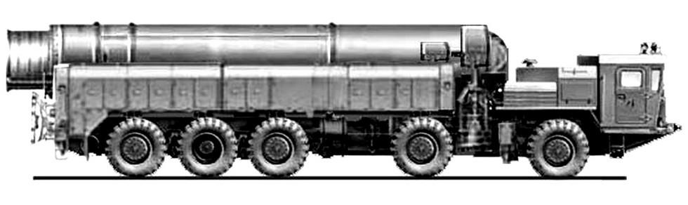 Эскиз компактного межконтинентального ракетного комплекса «Курьер»