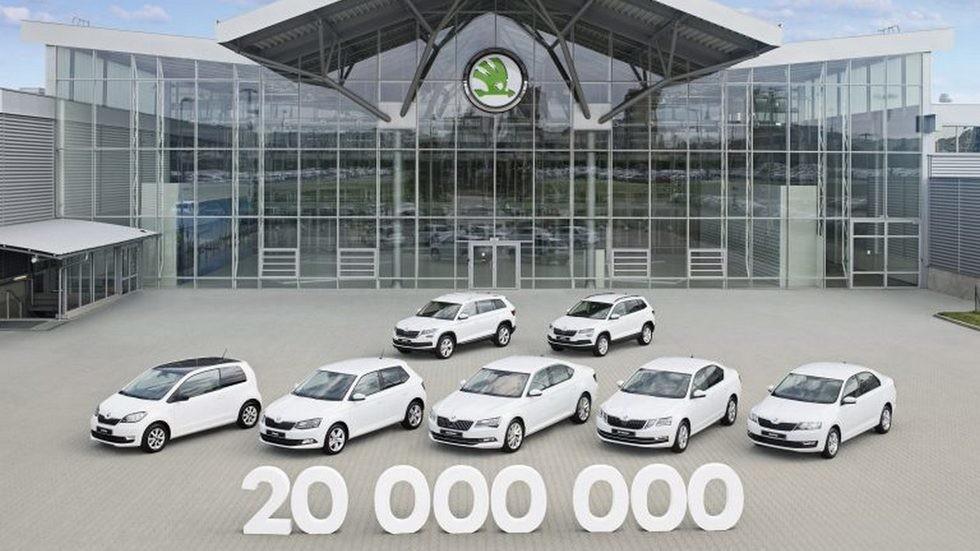 Сконвейера Шкода сошел 20-миллионный автомобиль
