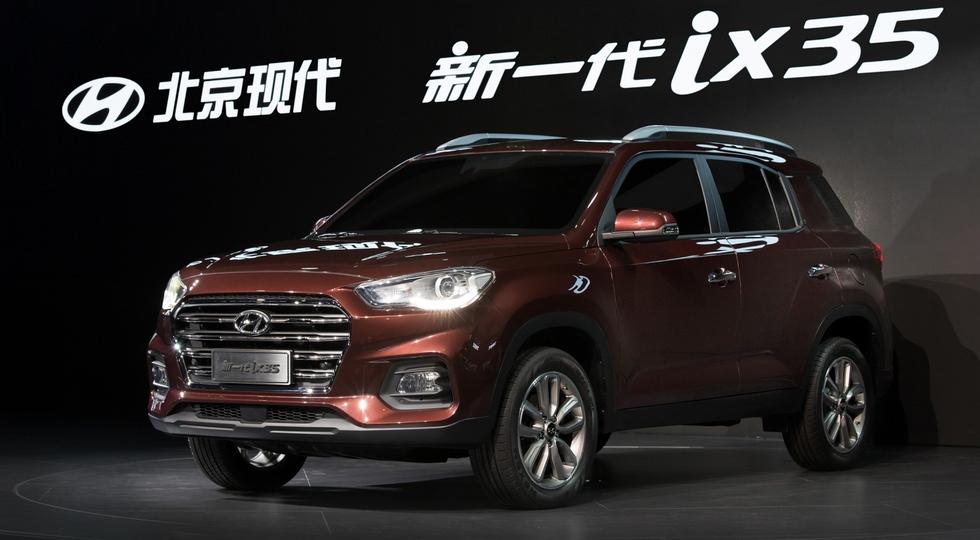На фото: прототип нового Hyundai ix35, представленный в апреле