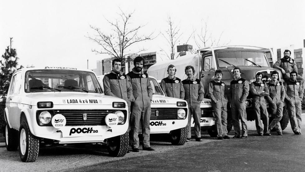 Дакар-83: пожалуй, лучшее время Нивы. И команды Lada Poch S.A.