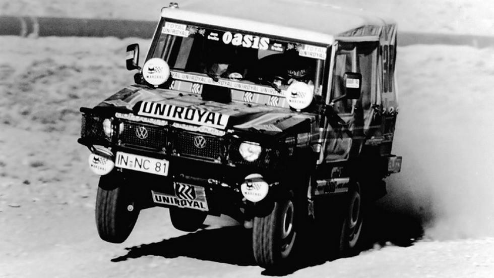 В первом ралли ехали кто на чем горазд – например, на «полувоенном» вездеходе Volkswagen Iltis.
