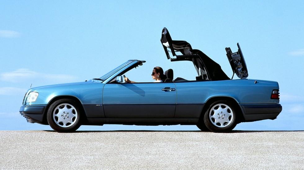 На фото: Mercedes-Benz E 220 Cabrio (A124) '1993–1996