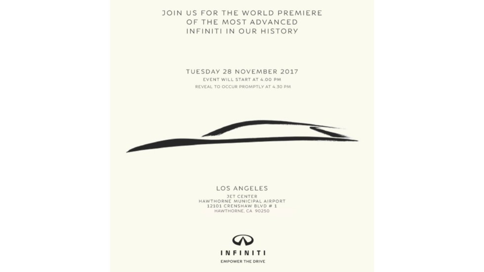 Invite to INFINITI World Premiere