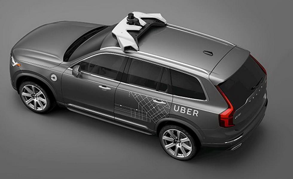 Тестовый образец Volvo XC90 для Uber