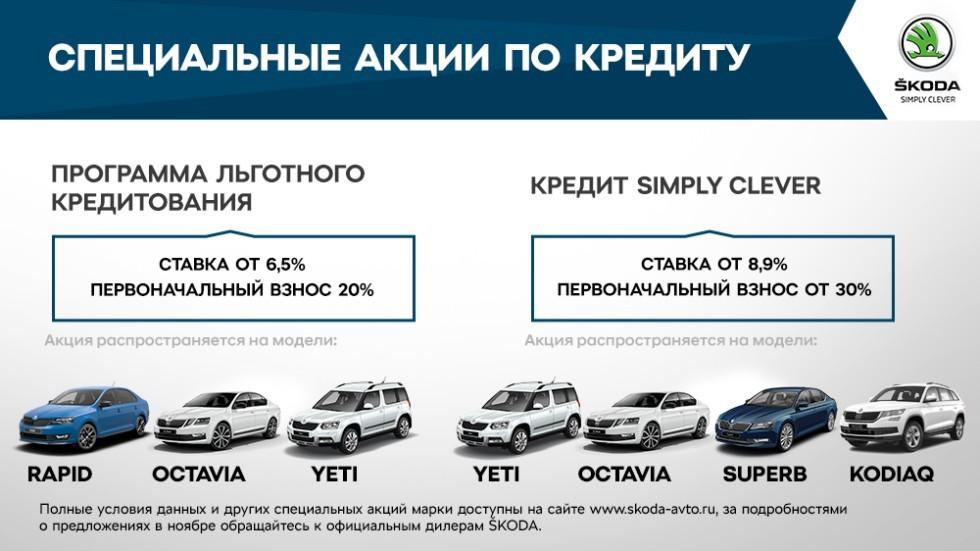Шкода предлагает скидки для граждан России напокупку авто кконцу осени