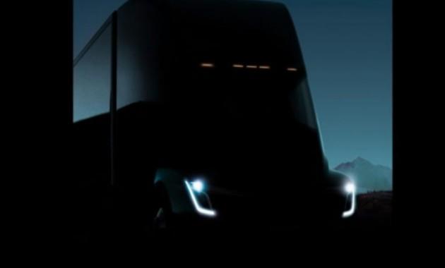 Вглобальной паутине появился тизер электрического фургона Tesla