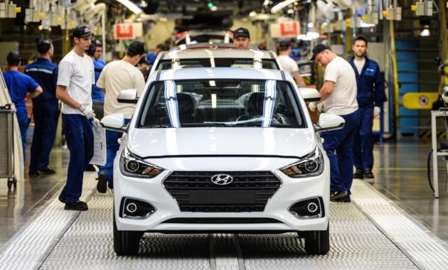 Петербургский завод Хюндай в 2017-ом увеличил объемы производства авто на13%