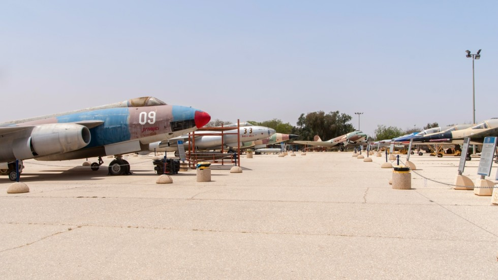 Multiple types of military jets