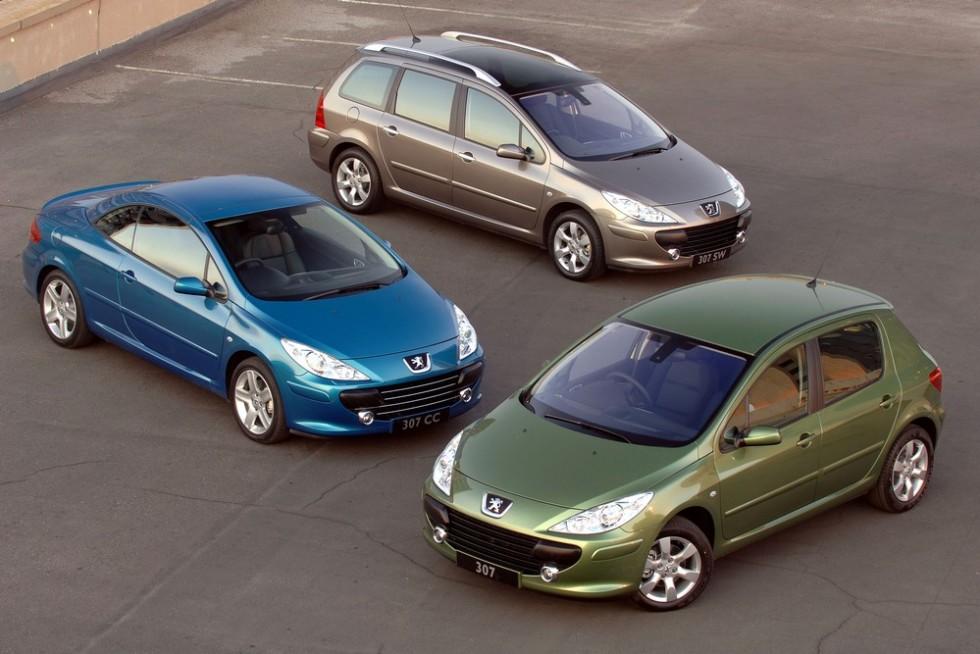 На фото: рестайлинг Peugeot 307 '2005–11