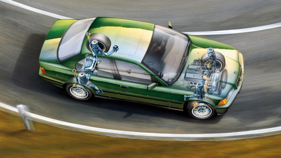 На фото: BMW 3 Series Sedan (E36) '1990–96