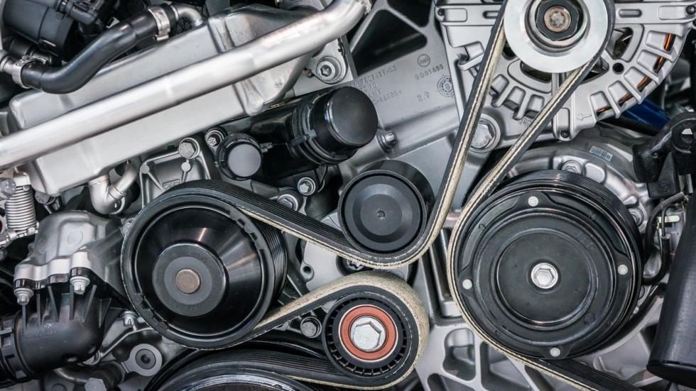 Close up shot of car engine