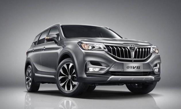ВКитайской республике начались продажи нового вседорожника Brilliance V6