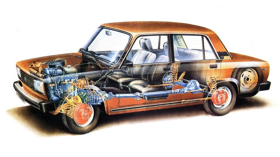 Принципиально конструкция тормозной системы заднеприводных ВАЗов не менялась с середины семидесятых