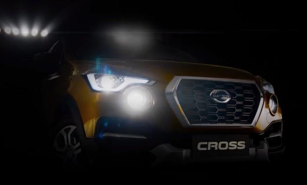 Новый кроссовер Datsun Cross показали наофициальном видео