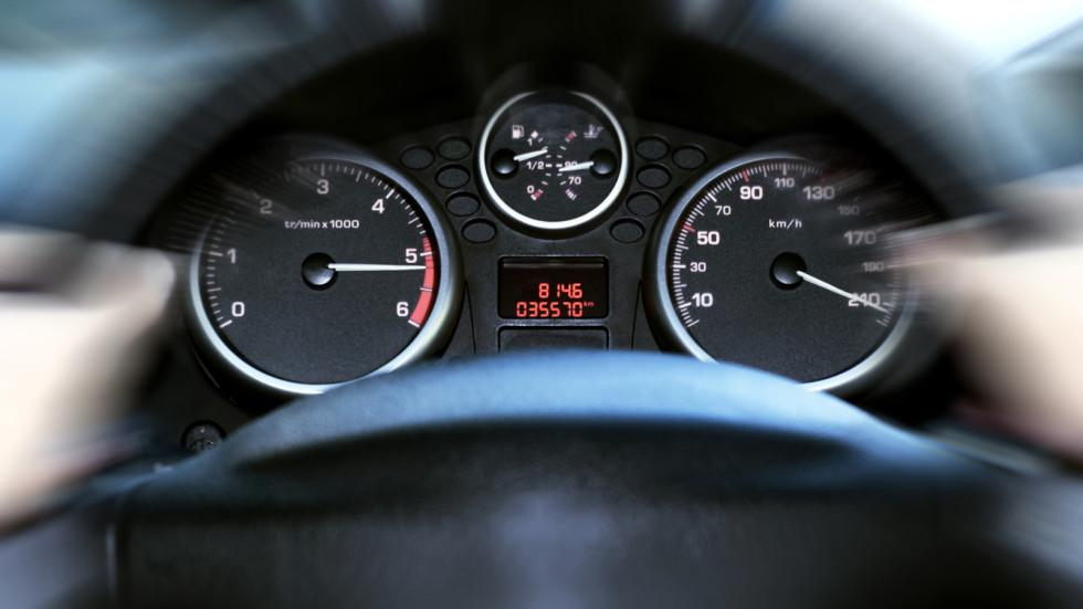 car panel instrument speedometer and tachometer (shallow dof)
